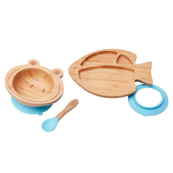 set-cadou-bebe-bol-broscuta-farfurie-pestisor-albastru